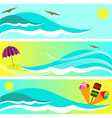 summer subjects vector image