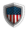 united states of america shield vector image