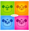 panda emotions vector image vector image