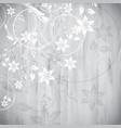 floral design on wood background vector image vector image