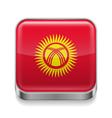 Metal icon of Kyrgyzstan vector image