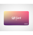 Modern simple gift card template vector image