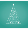 christmas tree on a blue background a vector image vector image
