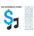 Music Price Icon with Flat Set vector image