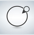 black map pin and circle gps tracking button vector image
