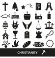 christianity religion symbols set of icons eps10 vector image