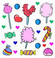 doodle of candy colorful design cute vector image