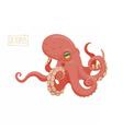 Octopus cartoon vector image