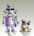 Robot and the dog vector image
