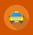 Travel Flat Icon Taxi vector image