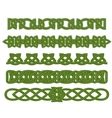 Green celtic ornaments vector image vector image