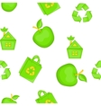 Ecology pattern cartoon style vector image