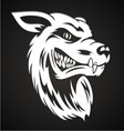 White Wolf Head vector image