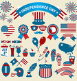 Stock Set of color independence day icons vector image