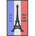 Pray for Paris words card vector image