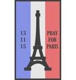 Pray for Paris words card vector image vector image