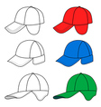 cap template vector image vector image