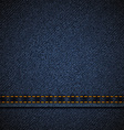 Background of blue denim vector image vector image