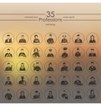 Set of professions icons vector image