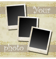 Photo card vector image vector image