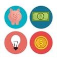 Bankglobal economy and money savings vector image