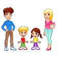 Funny family vector image