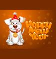 happy dog vector image
