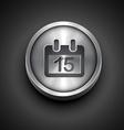 metallic calendar icon vector image
