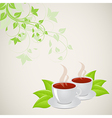 mugs with floral pattern vector image
