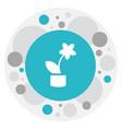 of teach symbol on flowerpot vector image