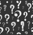 question marks pattern vector image