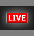 red live button vector image