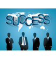 Silhouette people of Business concept vector image