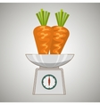 vegetable on balance isolated icon design vector image
