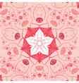 mandala square background Decor lace ornament vector image