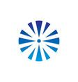 abstract circle arrow business technology logo vector image