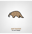 Cartoon ant-eater vector image