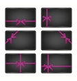 Set of gift cards with ribbons vector image