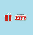boxing day sale banner vector image
