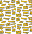 cartoon comic text sticker background vector image