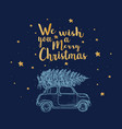 christmas of greeting card vector image