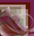 Colorful flower with waves on a square gradient vector image
