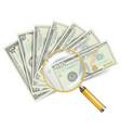 financial success concept money banknotes vector image