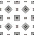 Grey square geometric seamless pattern 2 vector image