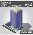 modern isometric skyscraper vector image