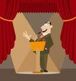 Orator made a speech vector image