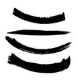 set of artistic black paint hand made creative ink vector image