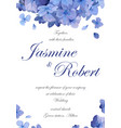 wedding invitation flower invite card design with vector image
