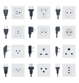 Electrical outlets plugs vector image