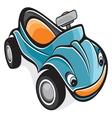 Cute race car vector image